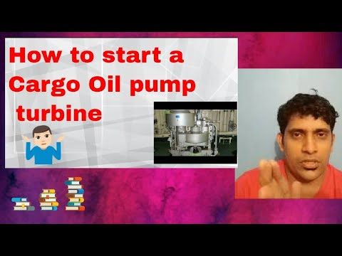 Cargo oil pump/ COPT / steam turbine driven cargo pump
