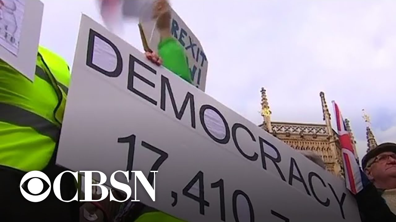 Londoners hit the streets to protest Brexit