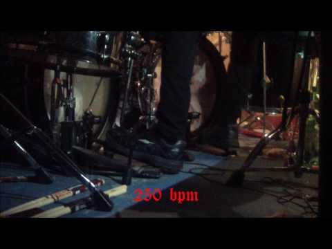 Simon 'Bloodhammer' Schilling - Belphegor - 210-280 BPM - Foot View Demonstration