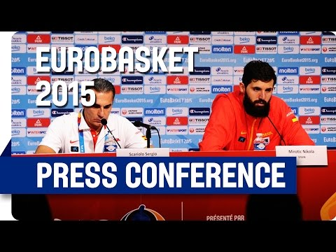 Spain v Greece - Post Game Press Conference - Live Stream - Eurobasket 2015