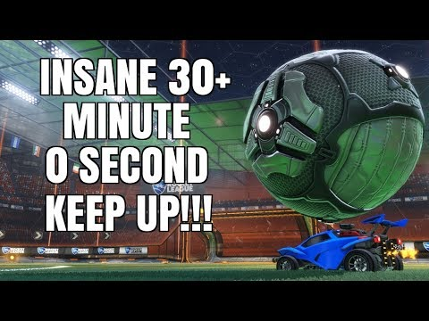 Rocket League | INSANE 30+ MINUTE 0 SECOND KEEP UP!!! (WORLD RECORD?)