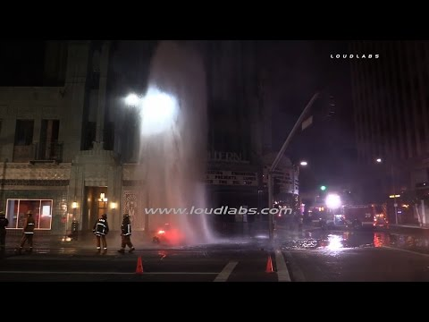 Rollover Traffic Collision at The Wiltern / Koreatown  RAW FOOTAGE