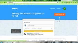 How to add Disqus comment to Blogger