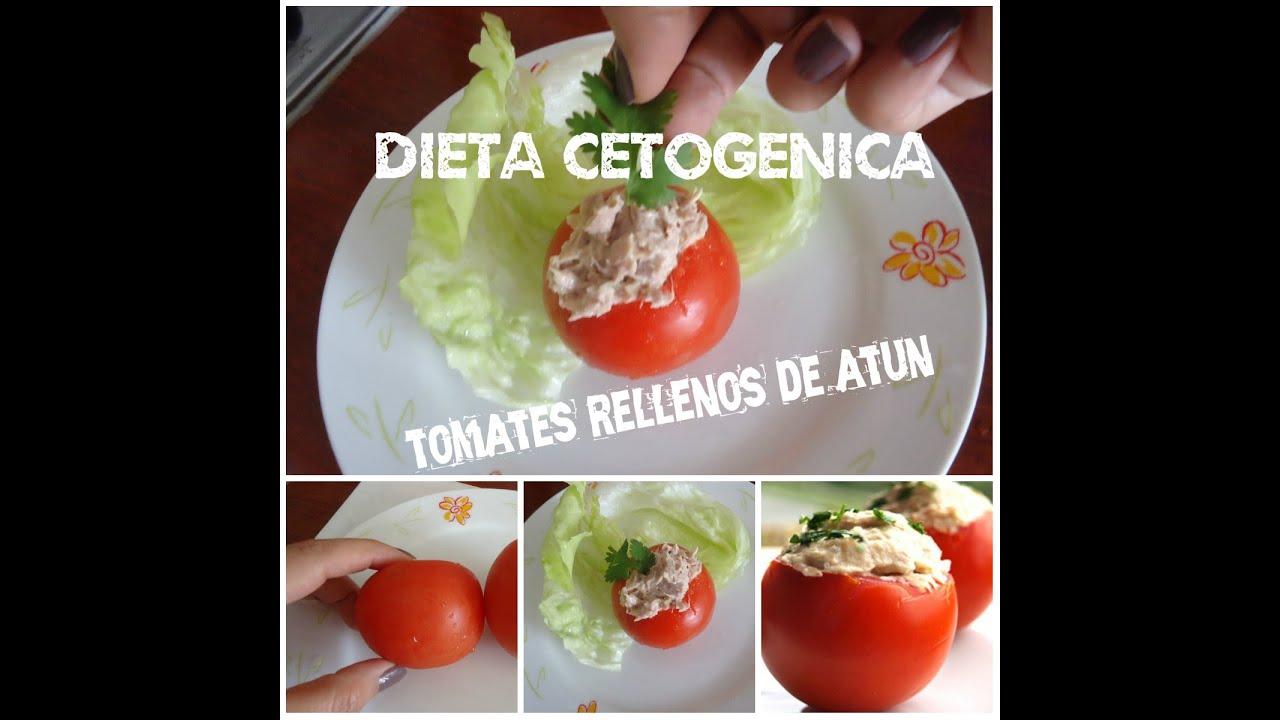 Dieta Cetogénica: Tomate Relleno de Atún - YouTube