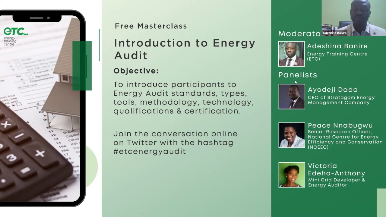 Introduction To Energy Audit Masterclass Youtube