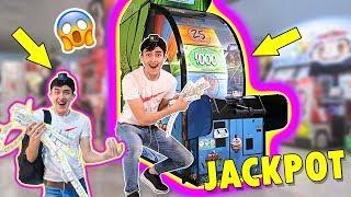 GANAMOS EL JACKPOT A LA PRIMERA Y GANAMOS MAS DE MIL TICKETS EN UNA MAQUINA DE PREMIOS !!! thumbnail