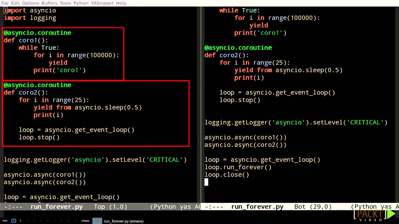 023 using the asyncio event loop and coroutine scheduler