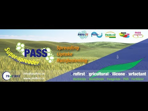Profirst Agricultural Silicone Surfactant PASS as Super-Spreader in the Tank Mix of Agrochemicals