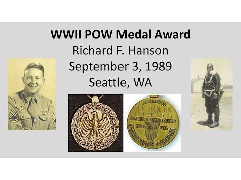 WWII Prisoner of War Medal Award Ceremony - R. F. Hanson - 9/3/1989
