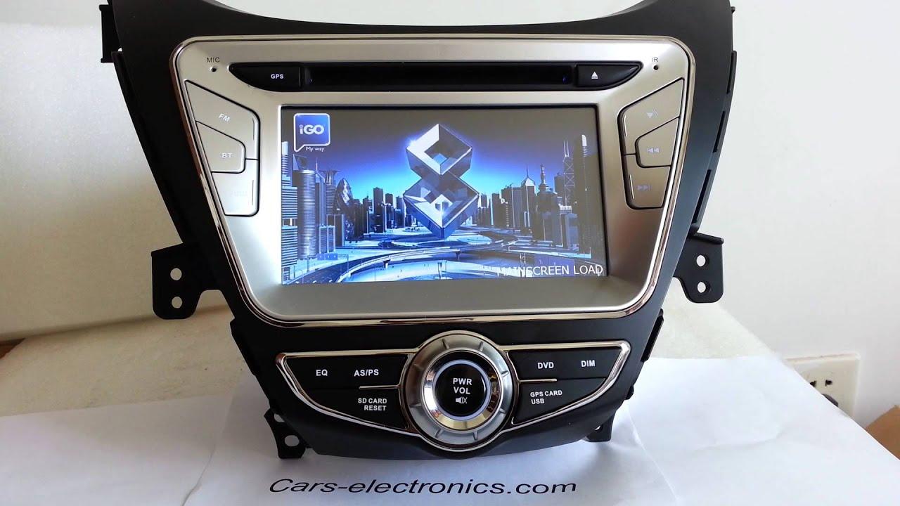 Hyundai Elantra 2012 Model >> Car DVD Player GPS for 2011/2012 Hyundai Elantra with Navigation system Touch screen - YouTube