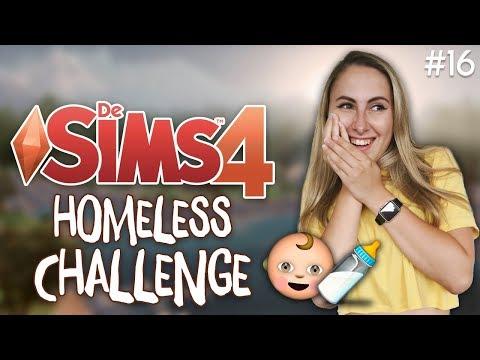 BEVALLEN! IS HET EEN TWEELING!? - De Sims 4: Homeless Challenge - Part 16