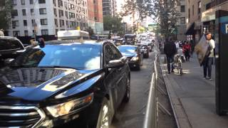 NYPD & UNITED STATES SECRET SERVICE ESCORT MOTORCADE DURING UNITED NATIONS GENERAL ASSEMBLY IN NYC.