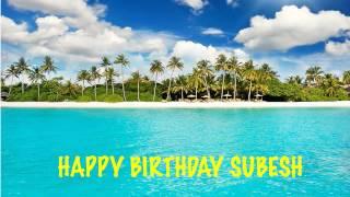 Subesh   Beaches Playas - Happy Birthday