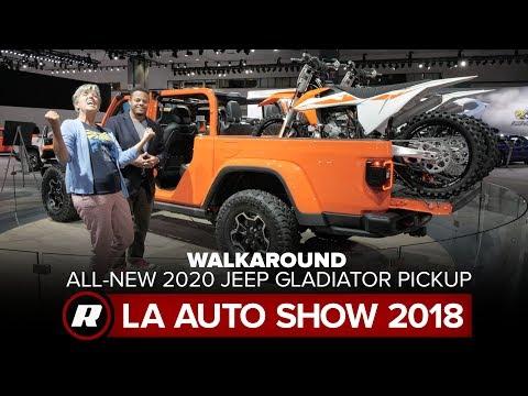 Walkaround the 2020 Jeep Gladiator Pickup Truck | 2018 LA Auto Show