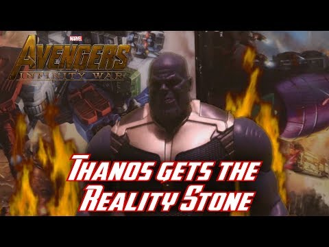 Thanos Gets The Reality Stone - Avengers Infinity War Stop Motion