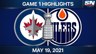 NHL Game Highlights   Jets vs. Oilers, Game 1 – May 19, 2021