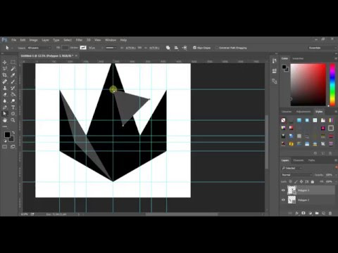 Professional Crown logo. Solid 3d illusion Photoshop CC | princeofstreet