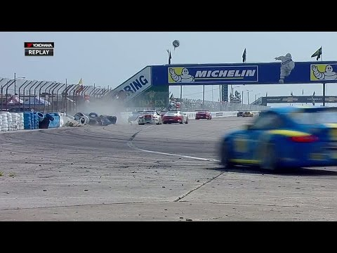 Porsche Carrera Cup 2015 Sebring Race 2 Goetz Big Crash