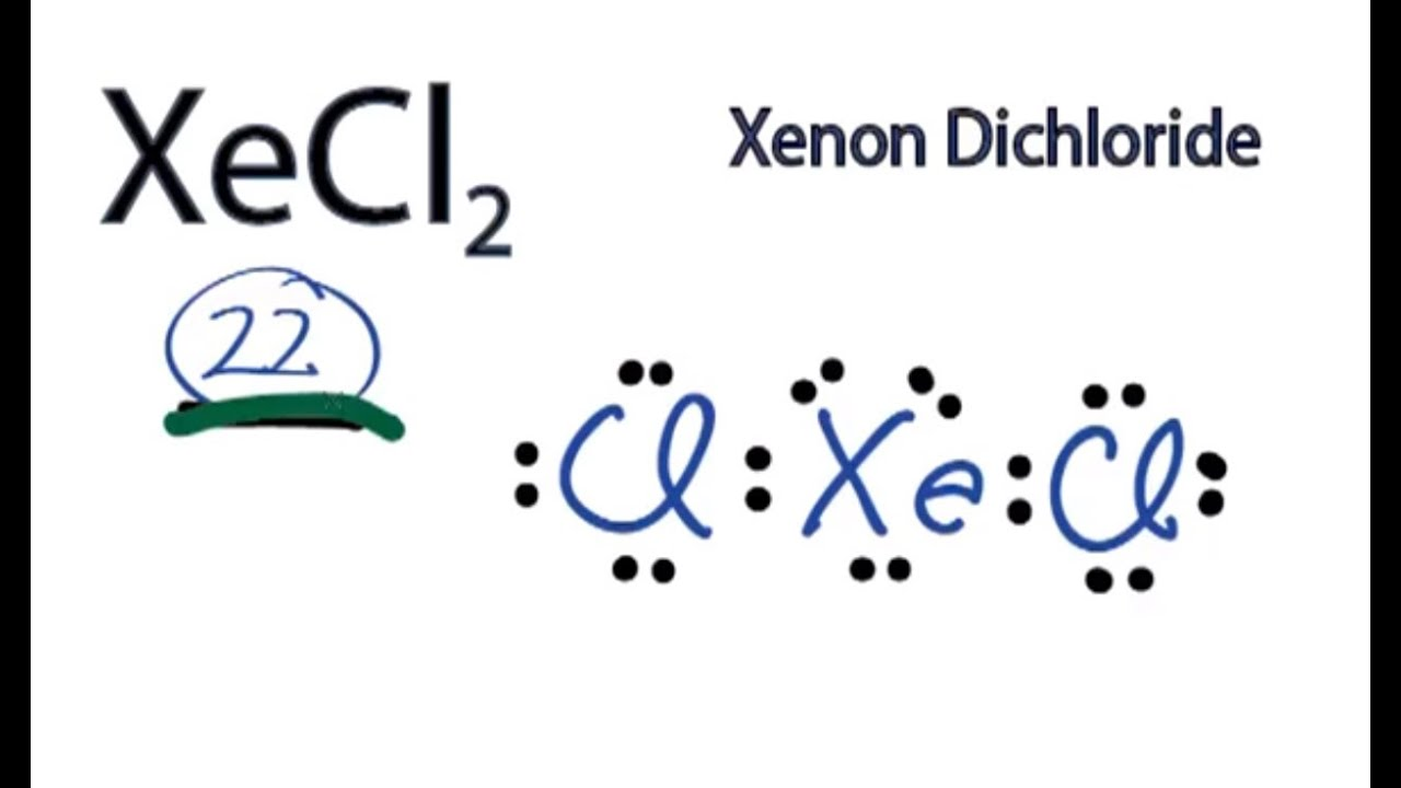 hight resolution of a step by step explanation of how to draw the xecl2 lewis dot structure xenon dichloride