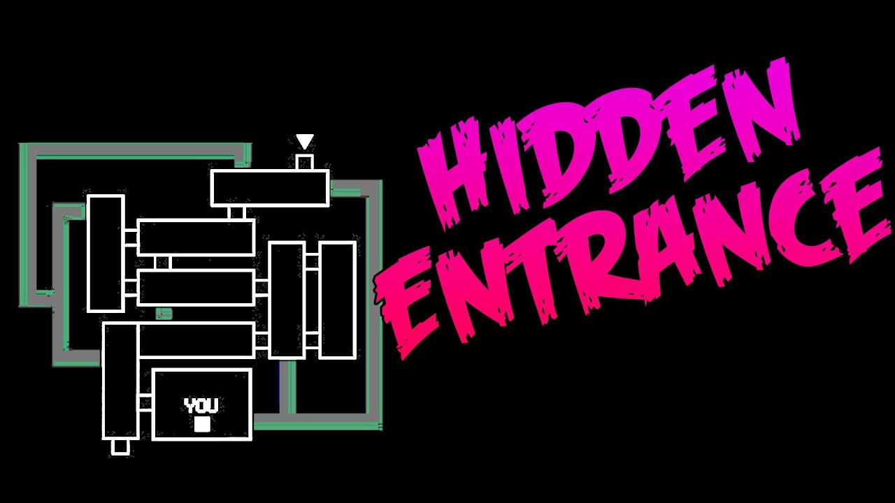HIDDEN ENTRANCE AND POSSIBLE VENTS!-Five Nights At Freddy's 3 Hidden Map  Layout