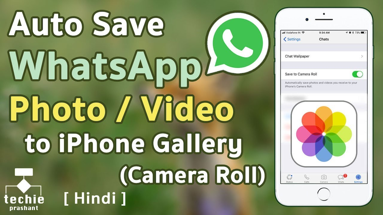 How To Auto Save Whatsapp Photo Or Video To Iphone Gallery Camera Roll Hindi Youtube