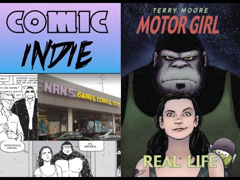 Comic Indie Podcast EP 10 Motor Girl on Location at NAN's Games and Comics