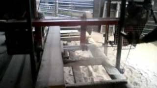 Homemade Bandsaw Mill Home Made Band Saw Cuts Ash Rails
