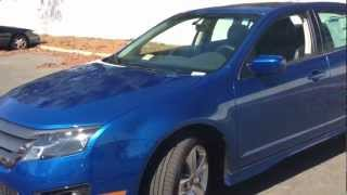 2012 Ford Fusion Sport Review, Walk Around, Start Up & Rev