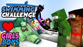 MONSTER SCHOOL : SWIMMING CHALLENGE ALL EPISODE - GIRLS VS BOYS MONSTERS