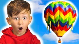 سينيا وأبي يطيران في بالون!