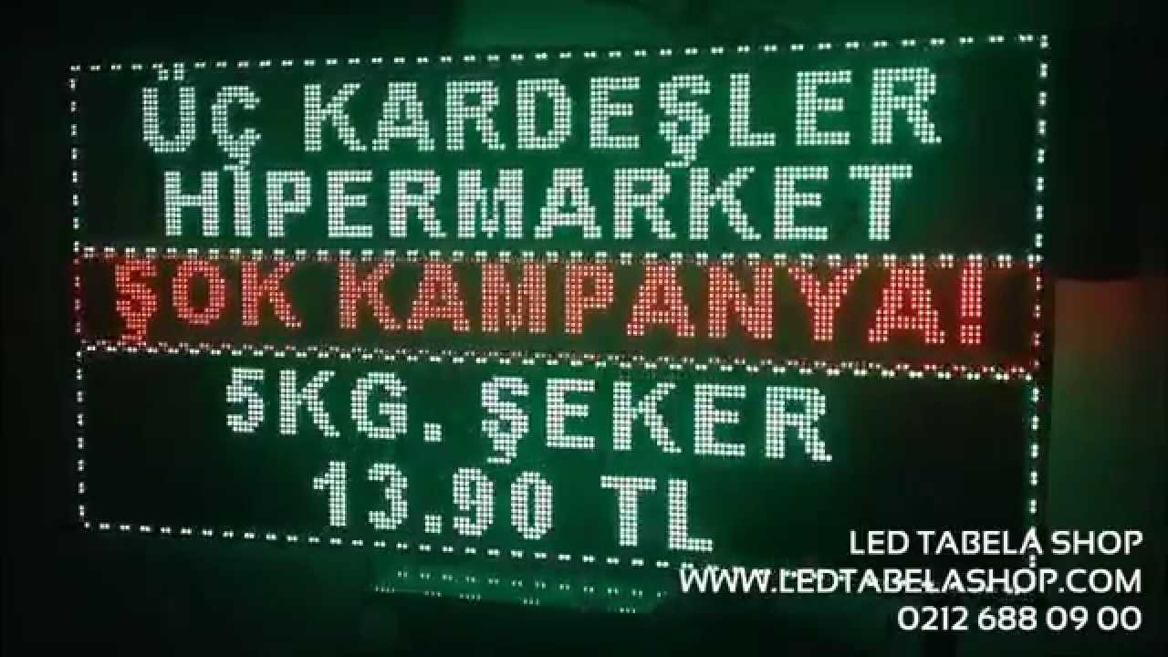 Marketler & Kampanyalı Ürünleriniz için Akıllı Led Tabela - Ledtabelashop.com