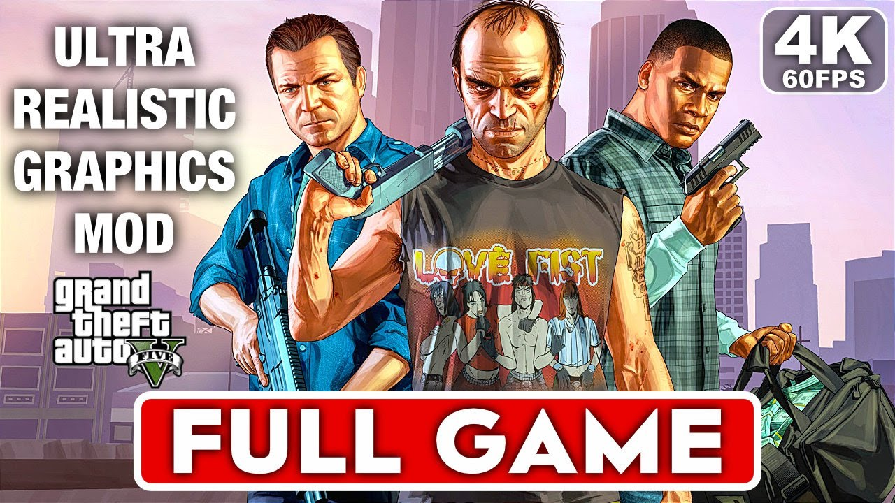 Download GTA 5 Gameplay Walkthrough Part 1 FULL GAME - ULTRA REALISTIC GRAPHICS [4K 60FPS PC] No Commentary