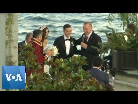 Turkey's Erdogan Attends Soccer Star Mesut Ozil's Wedding As A Witness