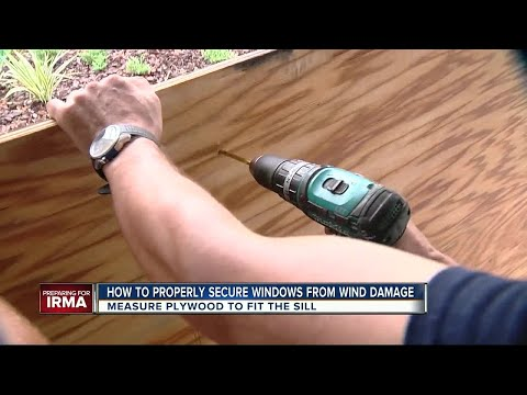 Experts share how to properly board up windows before Irma hits