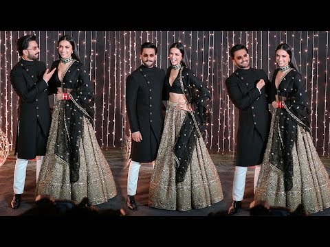 Ranveer Singh's Adorable Sweet MASTI With Wife Deepika Padukone @Priyanka & Nick's reception party