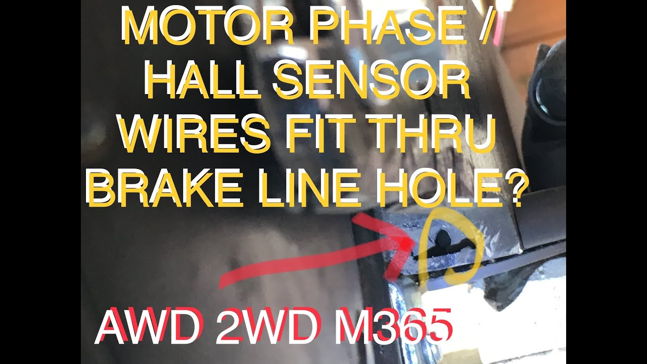 Motor phase, hall sensor wires fit thru brake line hole? m365 awd 2wd  xiaomi subscriber question