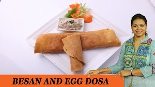 Besan Egg Dosa - Mrs Vahchef
