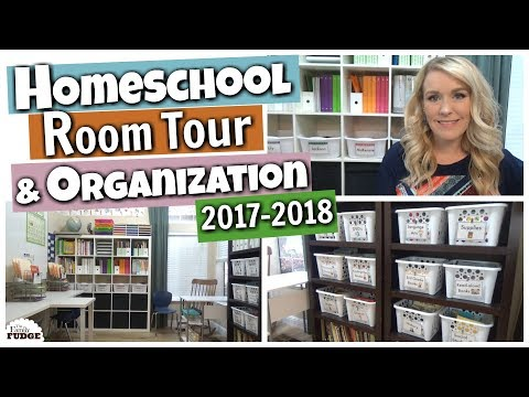 HOMESCHOOL ROOM TOUR & Organization 2017-2018