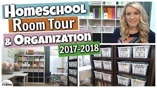 HOMESCHOOL ROOM TOUR & Organization 2017-2018