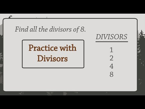 Arithmetic: Practice with Divisors