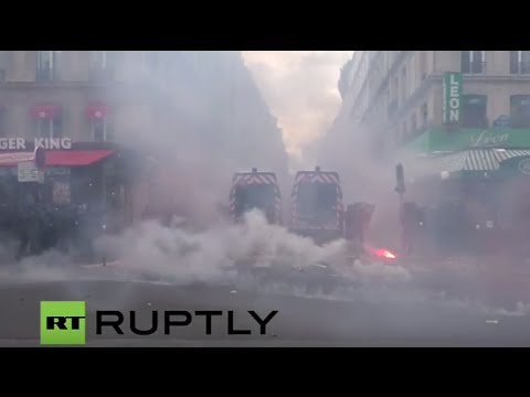 LIVE: Labour reform protesters hold general strike in Paris