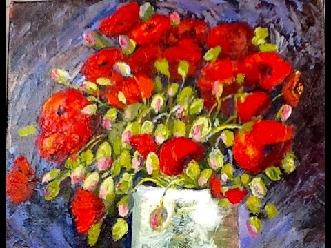 Van Gogh Vase With Poppies Part 3 Adding Color And