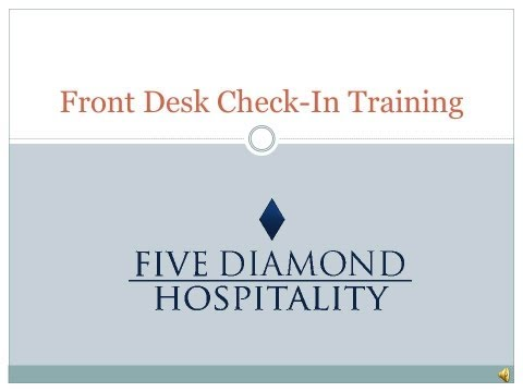 Hotel Front Desk Check In Training