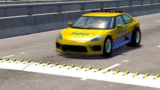 Spike Strip High Speed Crashes #2 – BeamNG Drive