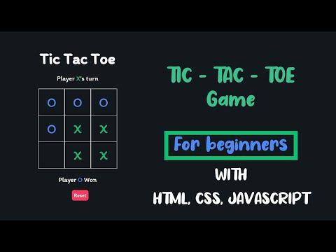 Create a simple tic tac toe game using HTML, CSS, JavaScript