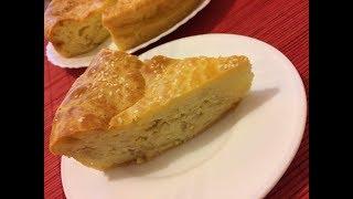 Пирог с капустой из заливного теста \\ Простой в приготовлении, румяный и очень вкусный
