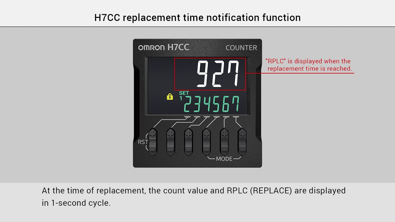 OMRON H7CC Notification of the Replacement Time
