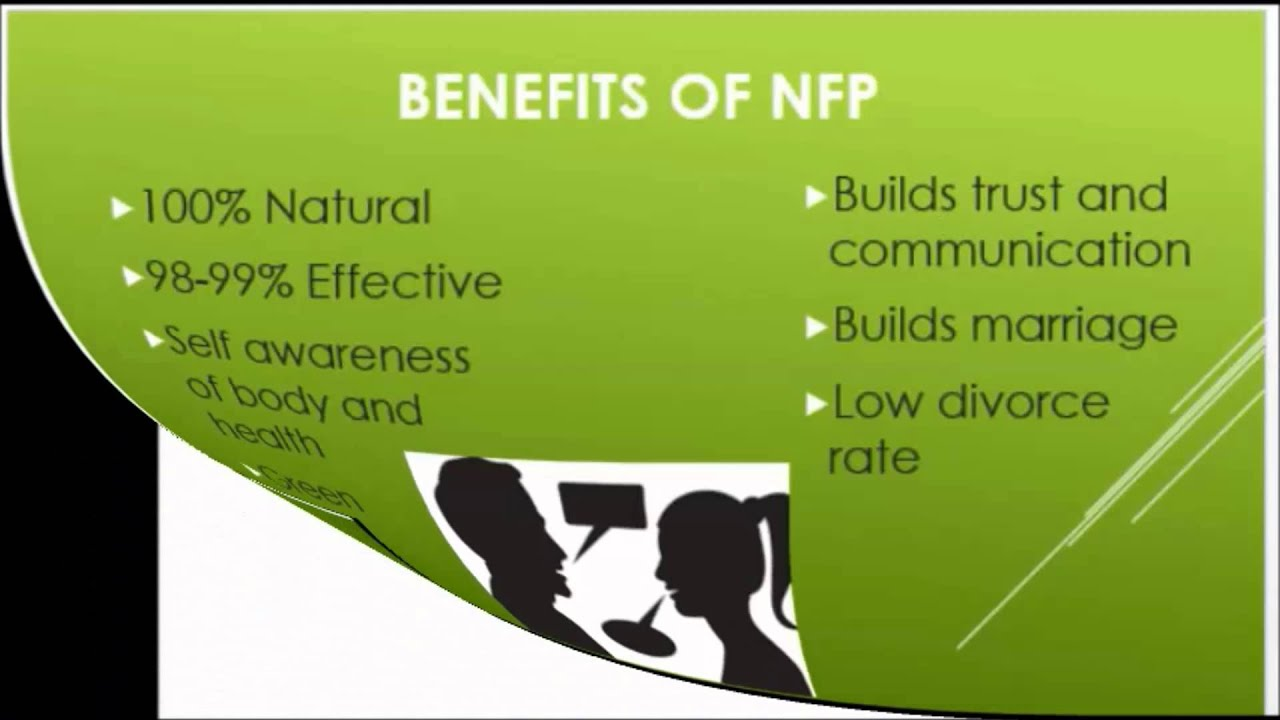 natural family planning Fertility awareness is a collection of methods using your body's natural functioning to determine the days of the month you are most likely to get pregnant it is also called natural family planning (nfp), and other variations include the sympto-thermal method, the ovulation method, and the .