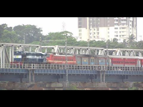 Diesel rescues Electric loco : ED WDM-3D+dead WAP-4 with Mangalore Chennai SF Express!!