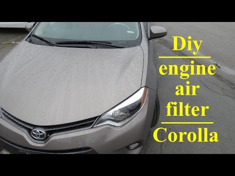 How to ● change your 2013 - 2017 Toyota Corolla Engine Air Filter